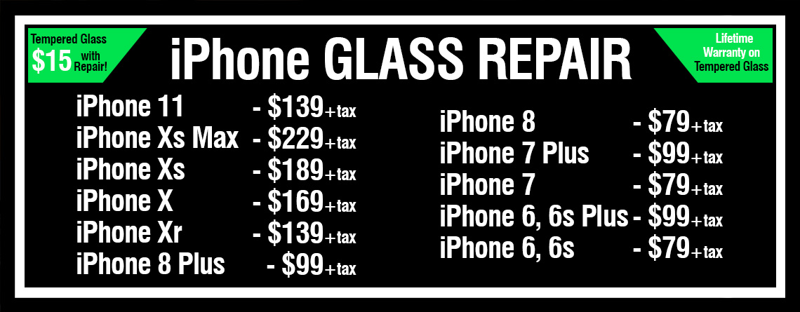 iPhone Repair pricing